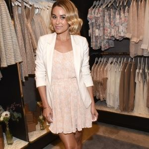Lauren Conrad White Textured Open Front Jacket